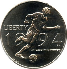 Image of 1994-D World Cup 50c PCGS MS69 - No Reserve!