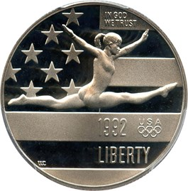Image of 1992-S Olympic Gymnast 50c PCGS Proof 69 DCAM