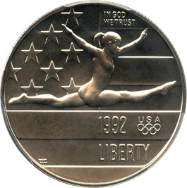 Image of 1992-P Olympic Gymnast 50c PCGS MS69 - No Reserve!