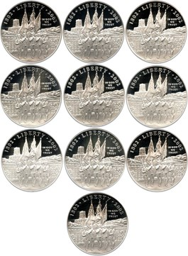 Image of Investor Lot of 2002-W West Point Bicentennial $1: All PCGS PR69 DCAM (10 Coins) - No Reserve!