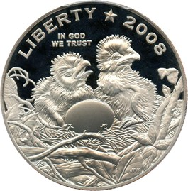 Image of 2008-S Bald Eagle 50c PCGS Proof 69 DCAM