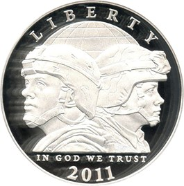 Image of 2011-P United States Army $1 PCGS Proof 69 DCAM