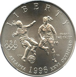 Image of 1996-S Olympic Soccer 50c PCGS MS69