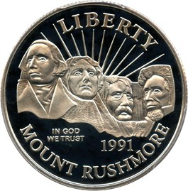 Image of 1991-S Mt. Rushmore 50c PCGS Proof 69 DCAM