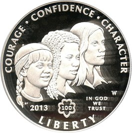 Image of 2013-W Girl Scouts $1 PCGS Proof 69 DCAM