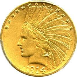 Image of 1914-S $10 PCGS/CAC AU53  - No Reserve!
