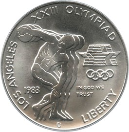 Image of 1983-D Olympic $1 PCGS MS69
