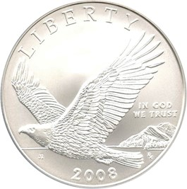 Image of 2008-P Bald Eagle $1 PCGS MS69