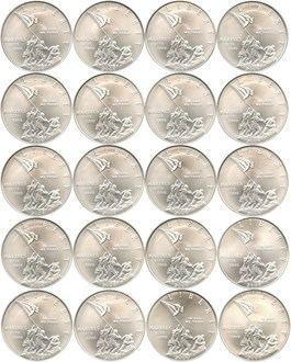 Image of Investor Lot of 2005-P Marine Corps $1: All PCGS MS69 (20 Coins) - No Reserve!