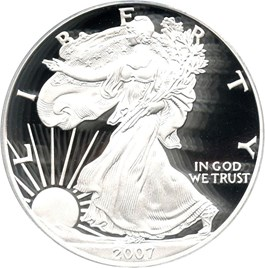 Image of 2007-W Silver Eagle $1 PCGS Proof 69 DCAM