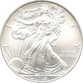 Image of 2008-W Silver Eagle $1 PCGS MS69