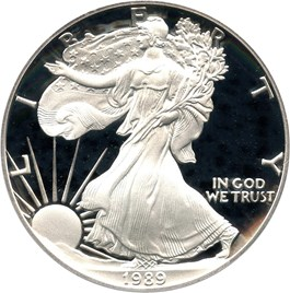 Image of 1989-S Silver Eagle $1 PCGS Proof 69 DCAM
