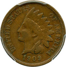 Image of 1909-S Indian 1c PCGS XF40 - Key Date