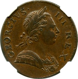Image of Great Britain: 1772 1/2 D NGC XF45