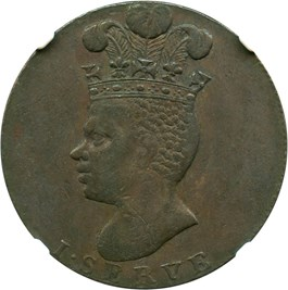 Image of Barbados: 1788 Penny NGC VF35 (PR-14, Copper)