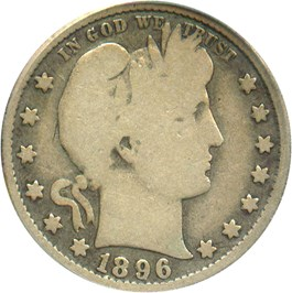 Image of 1896-S 25c PCGS VG-8 - Famous Key Date