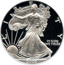 Image of 2000-P Silver Eagle $1 PCGS Proof 69 DCAM