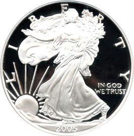 Image of 2005-W Silver Eagle $1 PCGS Proof 69 DCAM