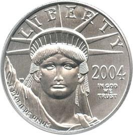 Image of 2004 Platinum Eagle $25 PCGS MS69