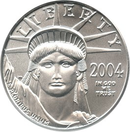 Image of 2004 Platinum Eagle $50 PCGS MS69