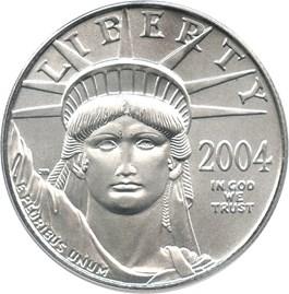 Image of 2004 Platinum Eagle $50 PCGS MS69