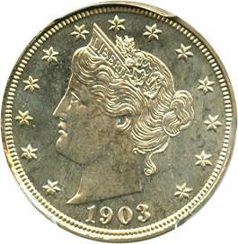 Image of 1903 5c PCGS Proof 65