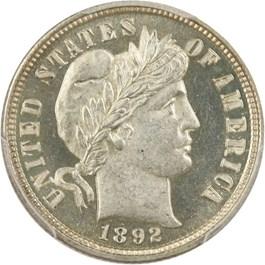 Image of 1892 10c PCGS Proof 64 CAM