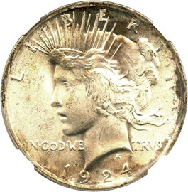 Image of 1924 $1 NGC MS66