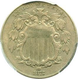 Image of 1872 5c PCGS XF45