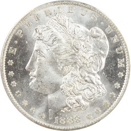 Image of 1888-O $1 PCGS MS65 PL