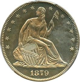 Image of 1879 50c PCGS Proof 63