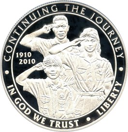 Image of 2010-P Boy Scouts of America $1 PCGS Proof 70 DCAM