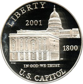 Image of 2001-P Capitol Visitors Center $1 PCGS Proof 69 DCAM