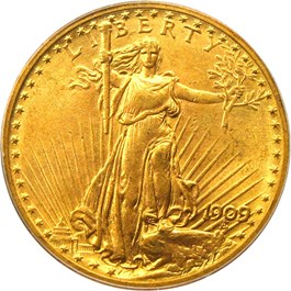 Image of 1909/8 $20 PCGS MS64