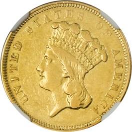 Image of 1854-O $3 NGC XF45