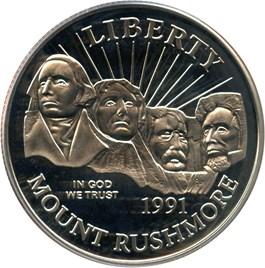 Image of 1991-S Mt. Rushmore 50c PCGS Proof 69 DCAM