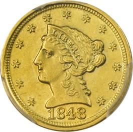 Image of 1848-D $2 1/2 PCGS AU58