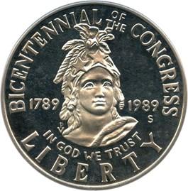 Image of 1989-S Congress 50c PCGS Proof 69 DCAM