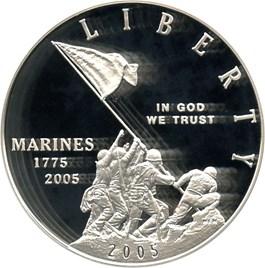 Image of 2005-P Marine Corps $1 PCGS Proof 70 DCAM