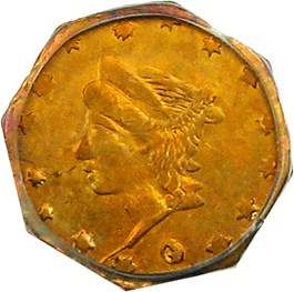 Image of California Gold: 1864 25c PCGS AU58 (BG-735)