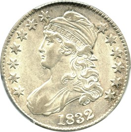 Image of 1832 50c PCGS AU55 (Small Letters)