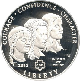 Image of 2013-W Girl Scouts $1 PCGS Proof 70 DCAM (First Strike)