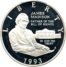Image of 1993-S Madison 50c PCGS Proof 69 DCAM