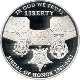 Image of 2011-P Medal of Honor $1 PCGS Proof 70 DCAM