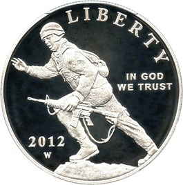 Image of 2012-W Infantry $1 PCGS Proof 70 DCAM (First Strike)