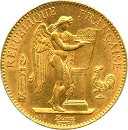 Image of France: 1912-A Gold 100 Franc PCGS MS62 (KM-858) 0.9334 oz gold