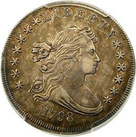 Image of 1798 $1 PCGS XF45 (Large Eagle)