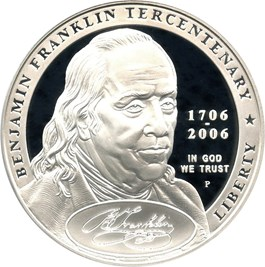 Image of 2006-P Ben Franklin-Founding Father $1 PCGS Proof 70 DCAM