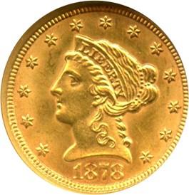 Image of 1878 $2 1/2 NGC MS62