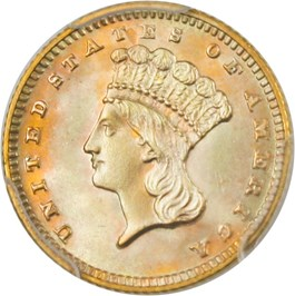 Image of 1889 G$1 PCGS MS66